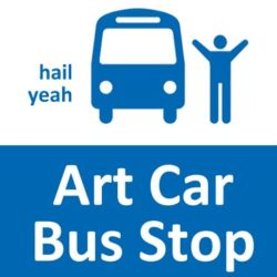 Art Car Bus Stop – Hurry up and wait!